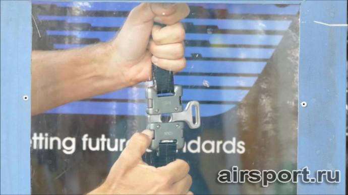 Тест безопасности на парапланерные пряжки APCO buckle