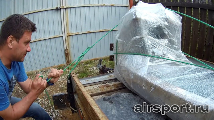 Как привязать груз (аэрошют) верёвкой