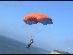 Полёты на парашюте со склона в Калининграде!!!